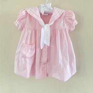 Vintage C.I. Castro & Co Pink Sailor Dress 24 M